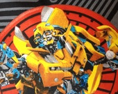 Toddler/Travel Pillowcase: Transformers on black with a red band