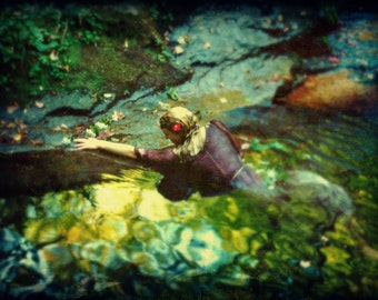Ashore,  Photograph Portrait of a Woman in Water, Pre-Raphaelite by Merle Pace