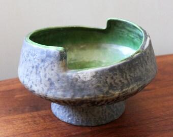 1950s mid century brutalist ceramic bowl.