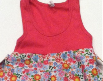 Cute girls size 7 tank top maxi-dress