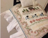 1:12 scale doll miniature embroidery quilt sheep layaway