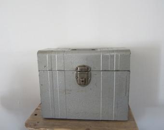 File Chest / File Metal Box Tall Porta File Cards Chest  / Checks Case Records Storage MenCave