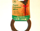 Wire Covered with Brown Paper, 48 Ft of 16 Gauge Wire, 2 Pkgs of 24ft each, Great for Wedding Crowns and Head Pieces, Floral Wraps Bouquets