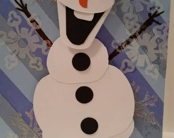 Olaf I like warm hugs card