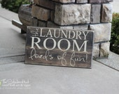 The Laundry Room Loads of Fun! Quote Saying - Wood Sign - Distressed Wooden Sign S66 - Laundry Room Decor - Home Decor - Decoration