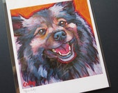 KEESHOND 8x10 Signed Dog Art Print from Painting by Lynn Culp