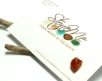Stone Ear Stud Natural Beach Gemstone Post Industrial River Rock Jewelry Agate Chip Pebble Earring Surfer APRICOT