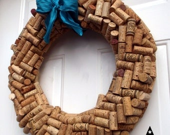 Wine Cork Wreath - large