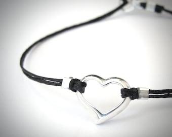 Sterling Heart Bracelet, Love Anniversary bracelet, Bridesmaid gift, Christmas gift, ready to ship, gift for her, gift for woman