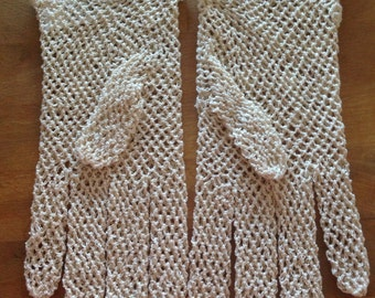 VINTAGE CROCHET  GLOVES, child, small woman,  from Nolan Glove Co.