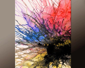 Abstract Canvas Art Painting 24x36 Original Contemporary Paintings On SALE by Destiny Womack - dWo - Scattered