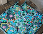 Quilted Pot holders, Amy Butler Potholders, Set of 2 potholders, Fabric potholders,  Hotpads, Shower gift, Hostess Gift