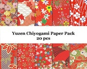 Washi Paper Yuzen Paper Origami Paper Pack - 20 pcs