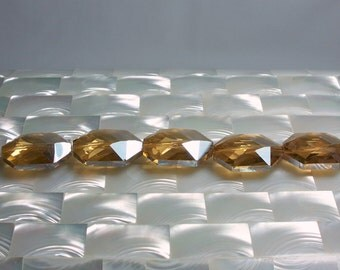 5pcs 25mm Beads Glass Chinese Crystal Gold Apricot AB Faceted Jewelry Jewellery Beads Craft Supplies Large/Medium