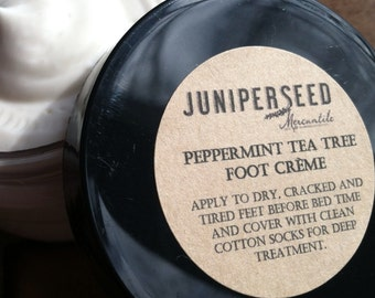 Peppermint and Tea Tree Shea Butter Foot Creme