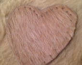 """Light Brown Heart Cowhide Leather Patch 3"""""""