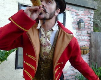 Red and Gold RingMaster's Cutaway Jacket