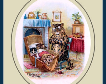 Cats in the Cradle Refrigerator Magnet - Free US Shipping