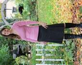 Jersey Knit Skirt - Heathered Charcoal - Size Small