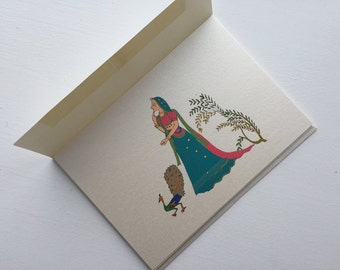 Indian cards Etsy