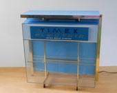 Vintage Lighted Timex Display Case • Lighted Watch Display Case • Vintage Advertising