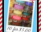 10 for 5.00  eye shadows Pure Natural  Minerals...Moi Minerals eye shadows