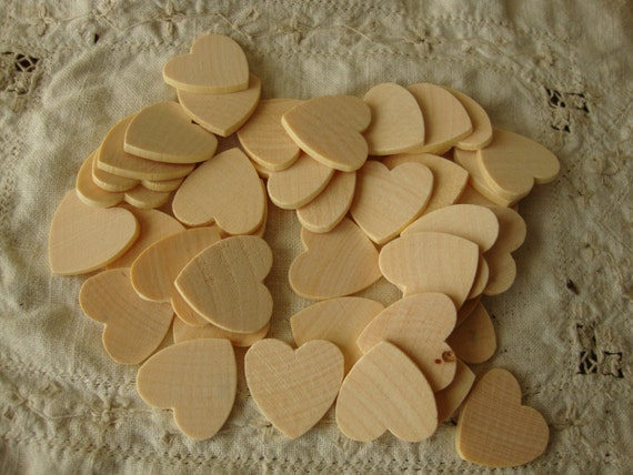 Wood hearts unfinished rustic wedding crafts by for Wooden hearts for crafts