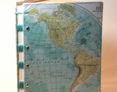 Made to Order  Map library card guest book  -You pick the Card Count