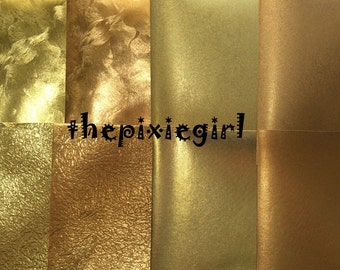 JAPANESE ORIGAMI PAPER Gold Momigami Textured Foil Washi 15cm