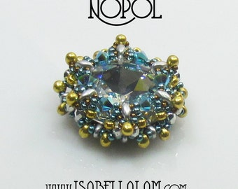 NOPOL Swarovski Round Fancy Stone Beadwork Pendant Tutorial  instructions for personal use only