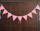 Girly Bunting Banner in Pink and White Polka-Dots