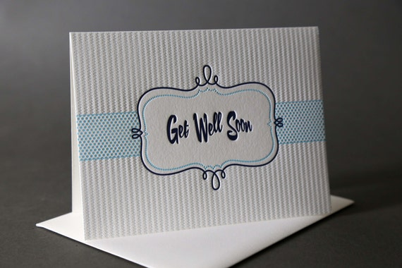 "Retro Frame ""Get Well Soon"""