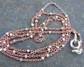 Rose Gold and Polished Sterling Two Tone Satellite Chain - Design Your Own Series