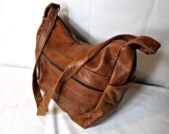 Leather Bag, Brown Leather Bag, Leather Purse Shoulderbag