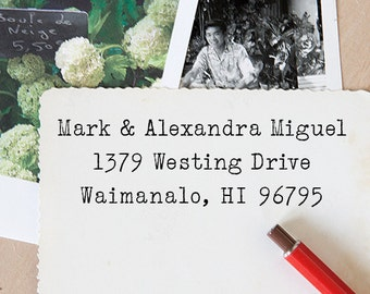Self Inking Address Stamp - Custom Address Stamp - Return Address Stamp - Housewarming Gift - Wedding Gift - Typewriter Style - 1009