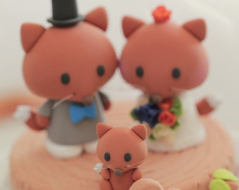 fox  Wedding Cake Topper---k713