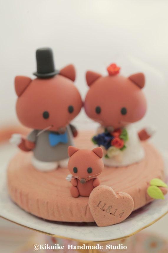 fox  Wedding Cake Topper---k713