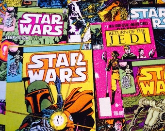 Star Wars Bright Comic Book Fabric By The Yard