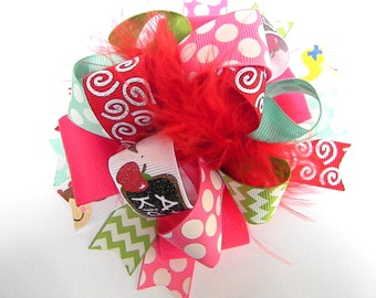 OTT  Back to School Bow Hair bow Over the Top Boutique Style