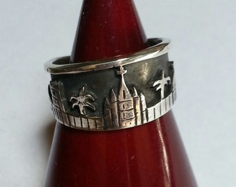 Skyline Ring of San MIguel de Allende Sterling Silver