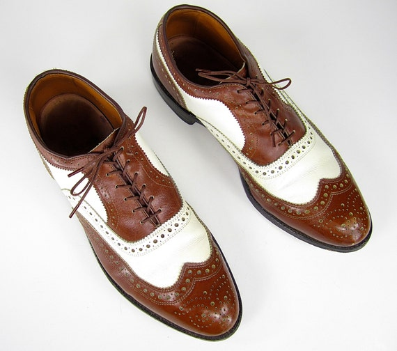 INCREDIBLE vintage 1980s 1990s allen EDMONDS two tone brown