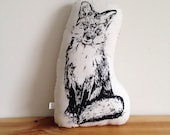 Handrawn Fox Pillow