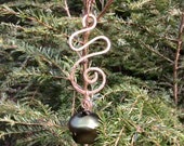 Bronze Squiggle Jingle Bell Ornament