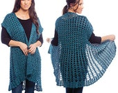 Crochet Swing Jacket for Small to 6X  PDF Pattern #1412