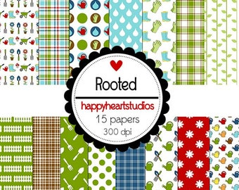 Digital Scrapbook Rooted-INSTANT DOWNLOAD