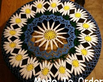 Daisy Crochet Spare Tire Cover