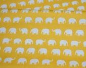 Large  Elephant print Yellow  background Fat quarter nc12