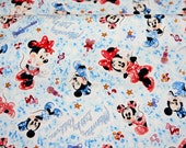 Disney Cartoon  Minnie Mouse Print Japanese fabric 100 cm by 106 cm or 39 inch by 42 inch Half meter