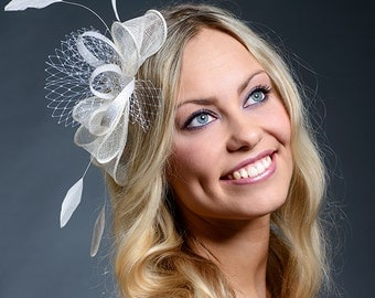 White wedding fascinator- New item in my collection!