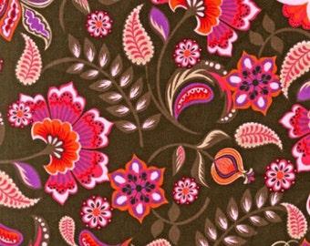 One (1) Yard -Cool Cords Small Wale Corduroy Floral Robert Kaufman AMFU-13484-110 Hot Pink